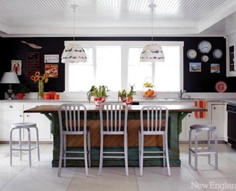 orange decor in the kitchen