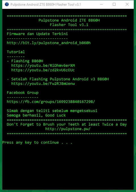 Flasher Tool Pulpstone Android v3.1