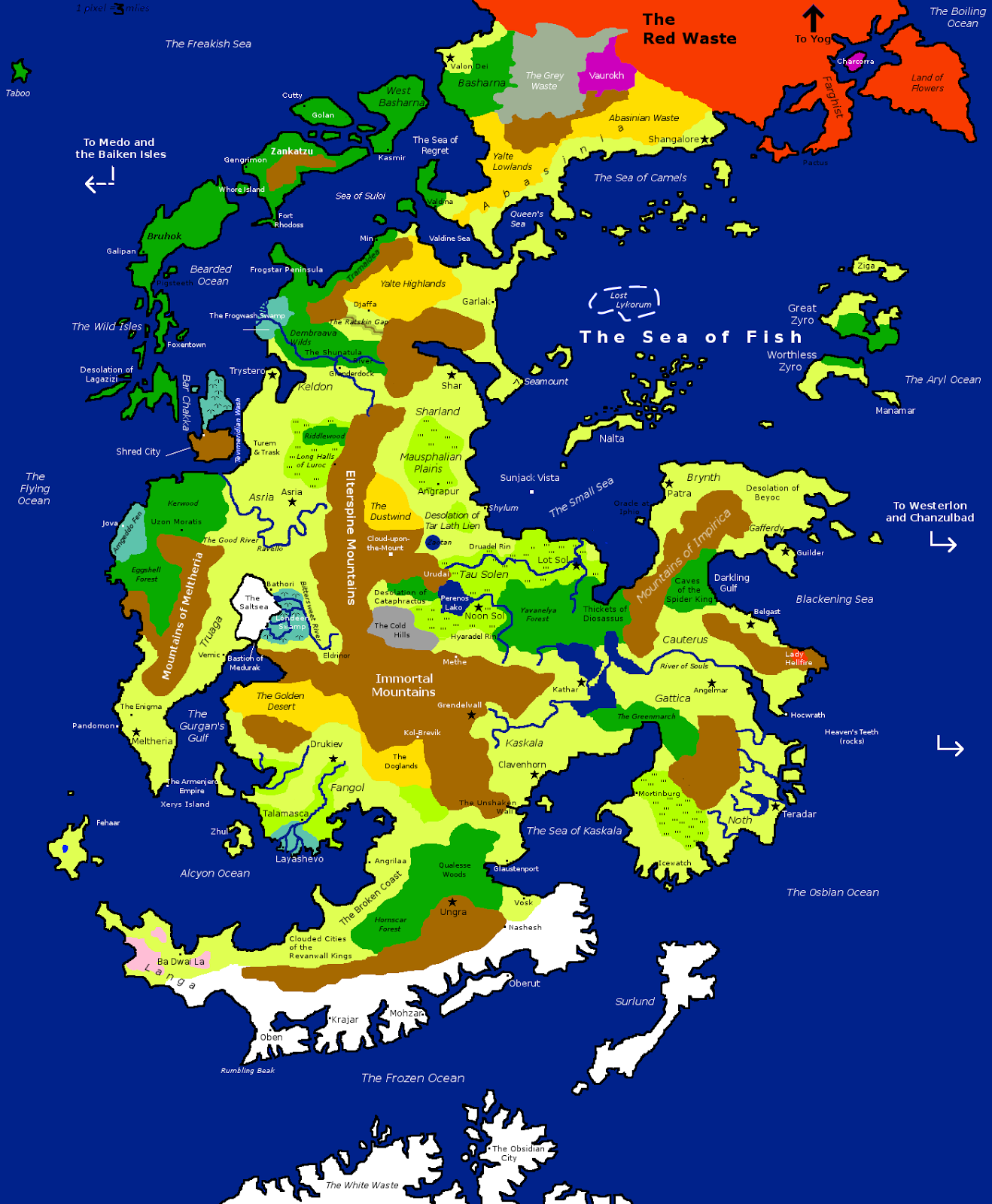 Flipped World Map.Goblin Punch Map Of Centerra