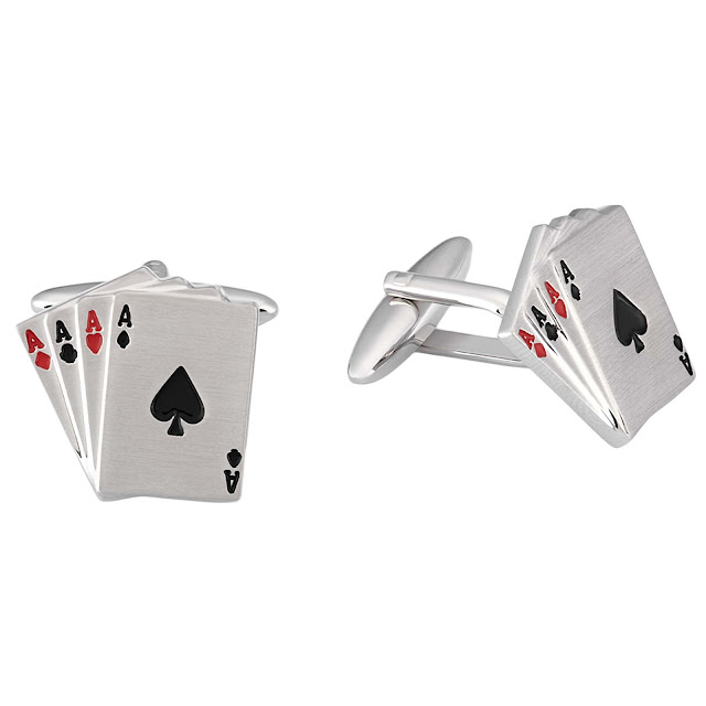 Playing Cards Cufflink by shazé. Price- Rs. 1,890-