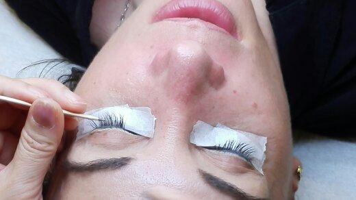 Extensiones de pestañas de pelo de visón