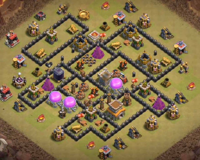 best th8 war base anti dragon 2018