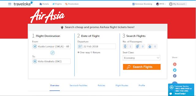 Penerbangan Selesa Bersama Air Asia Airlines