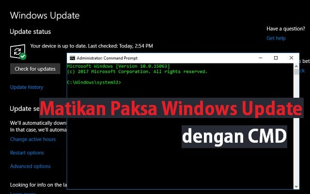 Cara mematikan paksa Update Windows 10 menggunakan Command Prompt (CMD) 1