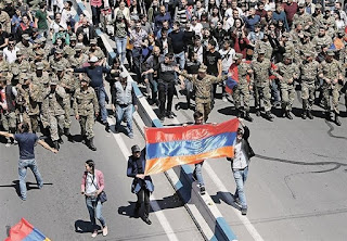 armenia soldiers protests