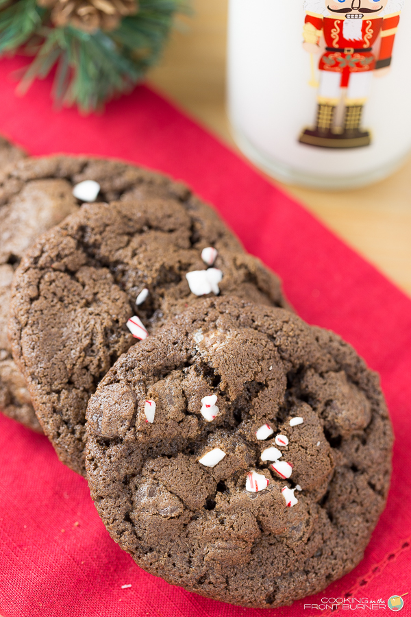 Triple Chocolate Peppermint Cookie   Cooking on the Front Burner