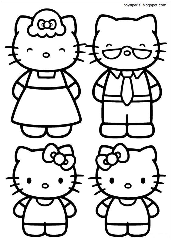 Hello Kitty çocuk Boyama Kitabı Rabis Kandaz