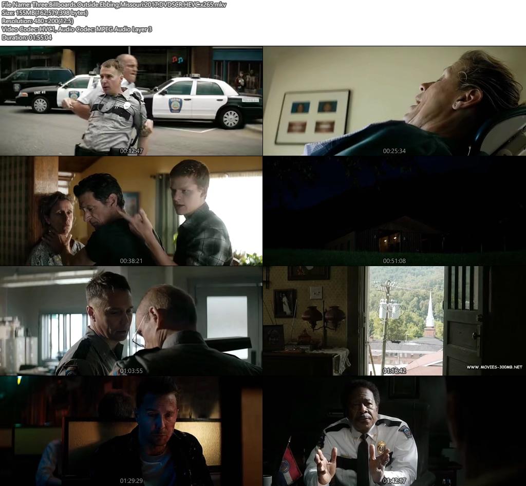 Three Billboards Outside Ebbing Missouri 2017 DVDSCR 480p 300MB x264 Screenshot