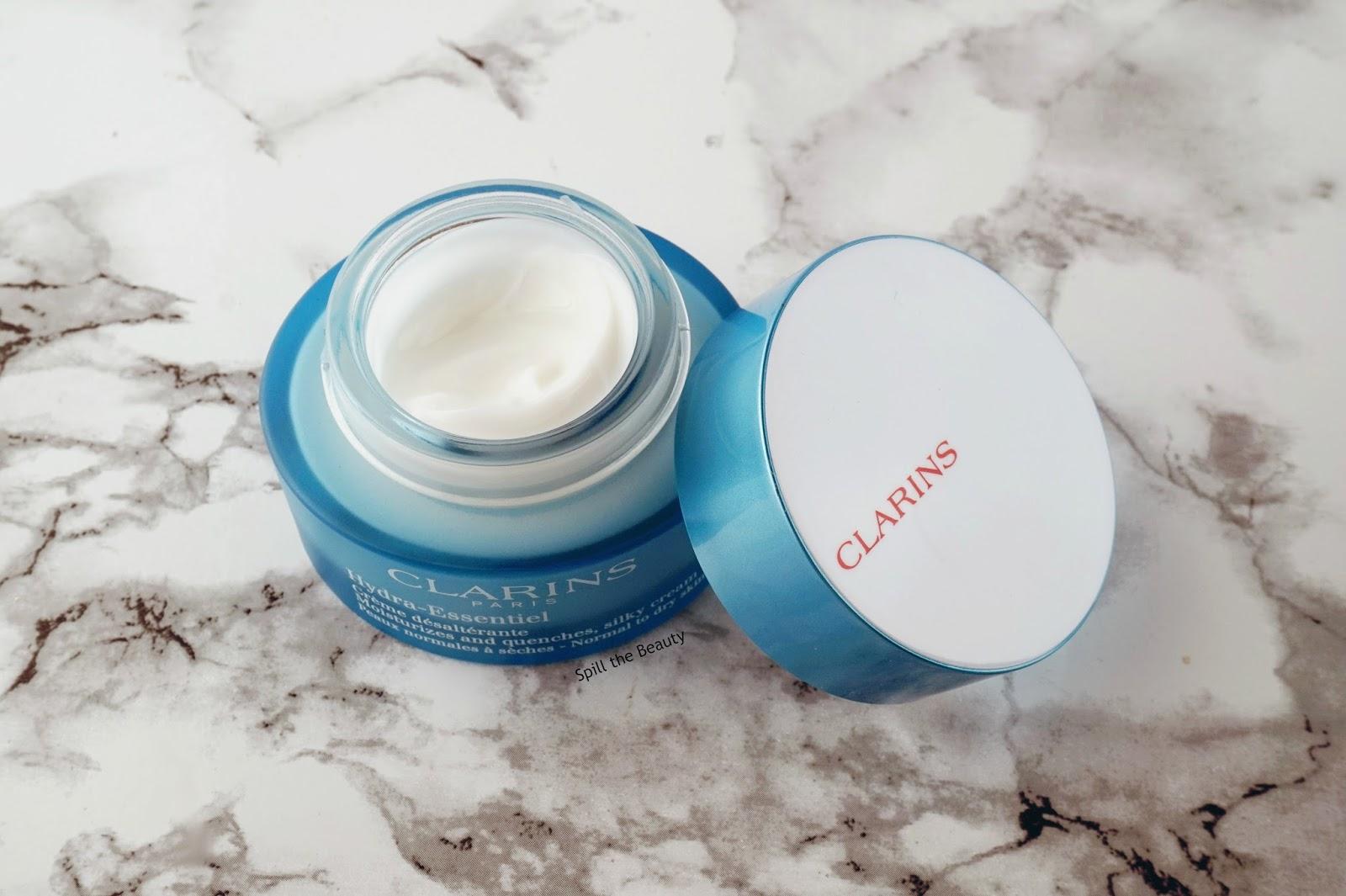 clarins hydra essentiel bi phase serum silky cream skincare review