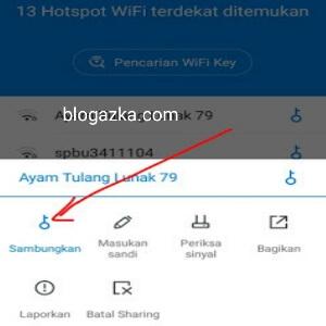Mengkoneksikan ke jaringan Wifi yang di kunci
