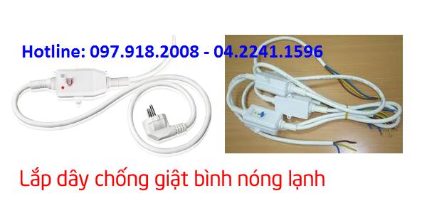 Thay dây chống giật điện bình nóng lạnh tại Hà Nội