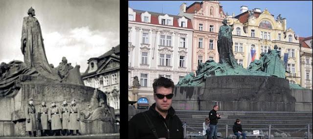 Jan Hus Memorial Then and Now