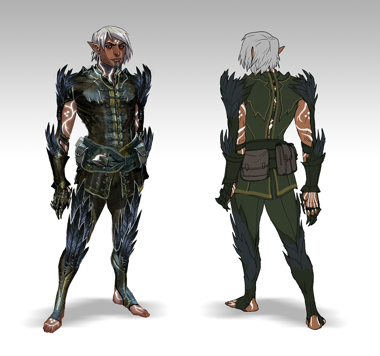 Neonmakeup2 Video Game Inspired Fenris From Dragon Age Ii