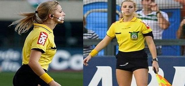 7 مواقف محرجة لحكمات جميلات في ملاعب كرة القدم