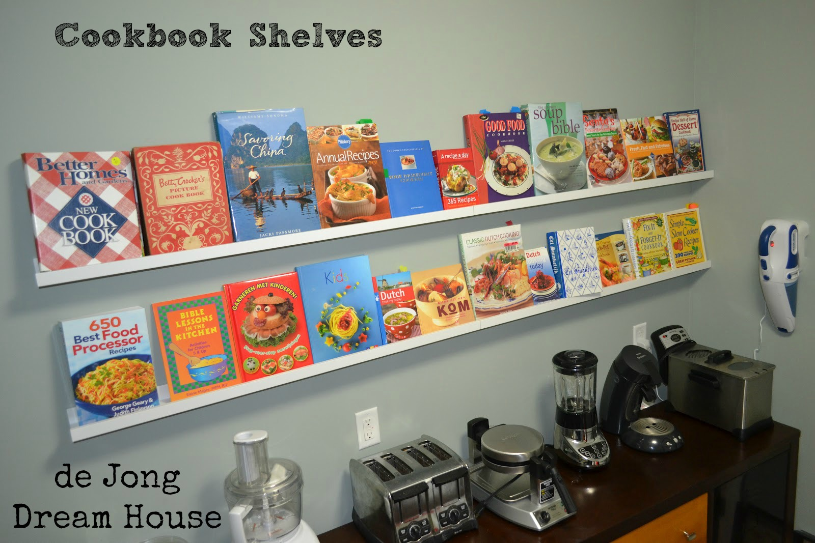 De Jong Dream House Cook Book Shelves