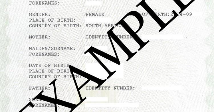 Birth Certificate South Africa Unabridged Birth Certificate