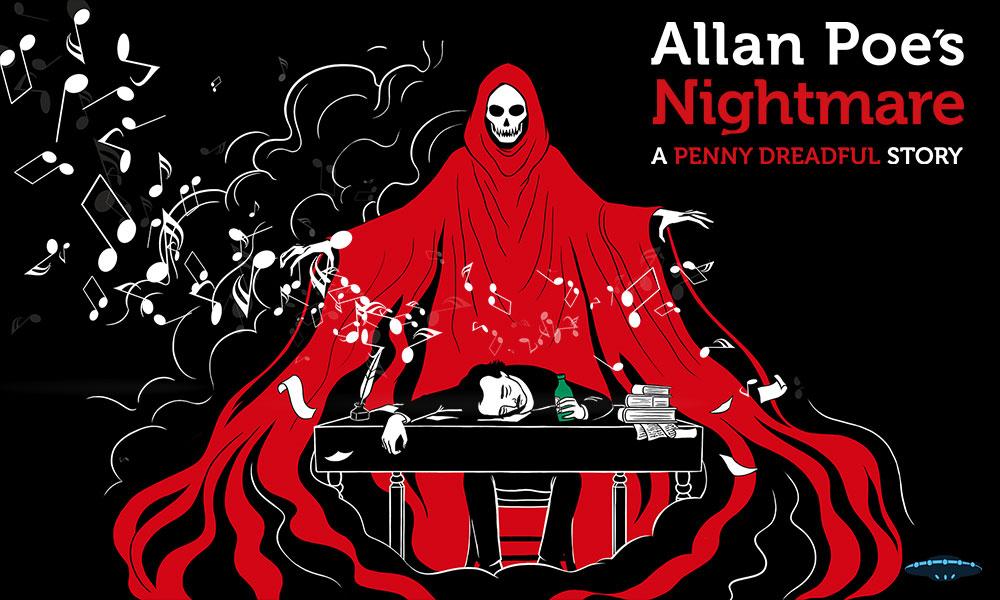 Banda Sonora del videojuego Allan Poe´s Nightmare creado por Gametopia