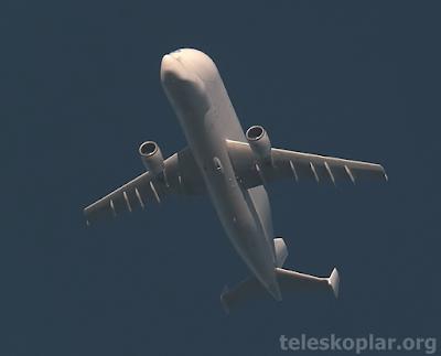 Teleskop ile uçak gözlemi