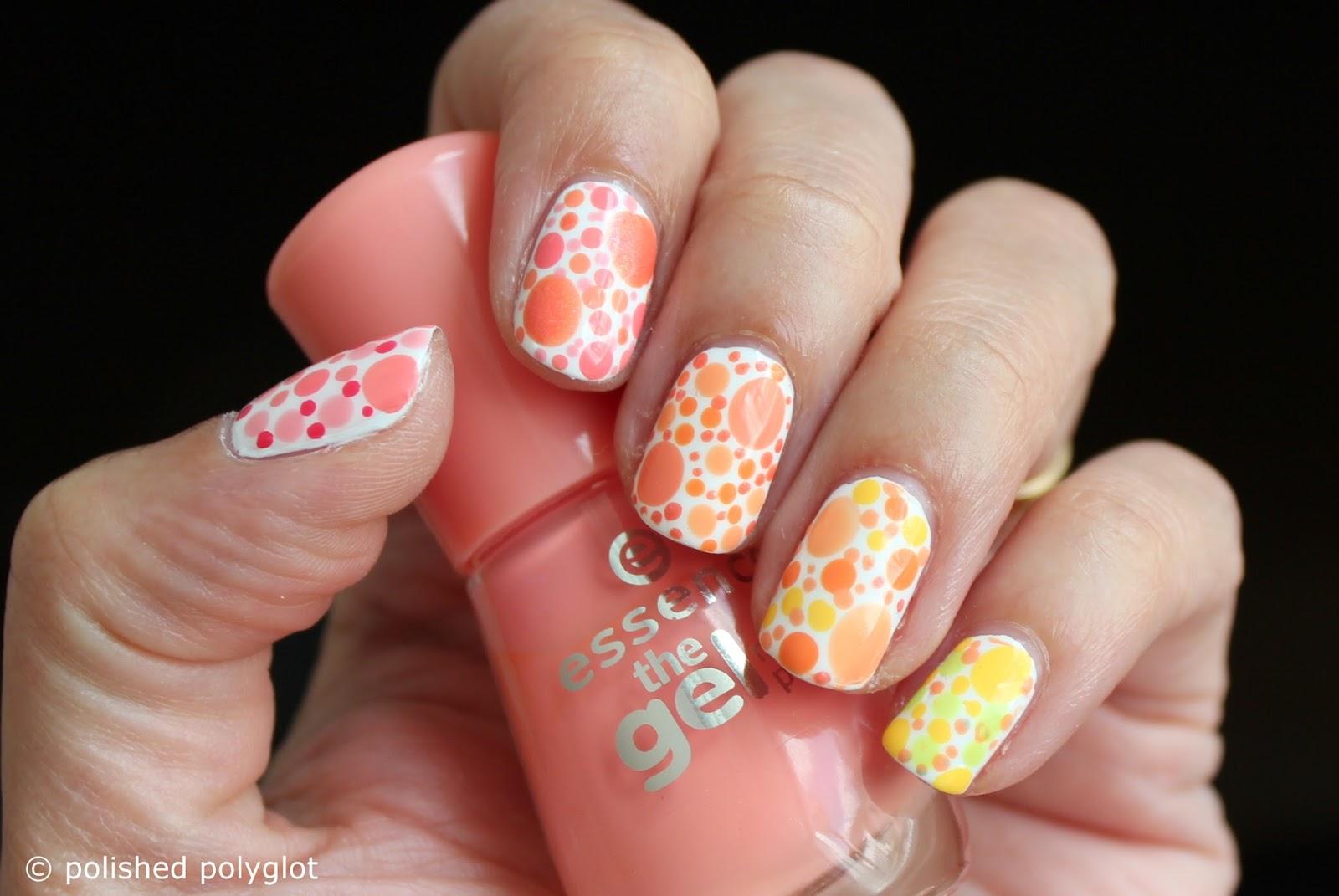 Nail art designs for short nails peach or lemon skittles nail art designs for short nails peach or lemon dotticure prinsesfo Choice Image