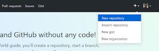 Pilih New Repository - Github