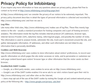Cara Membuat Privacy Policy & Disclaimer