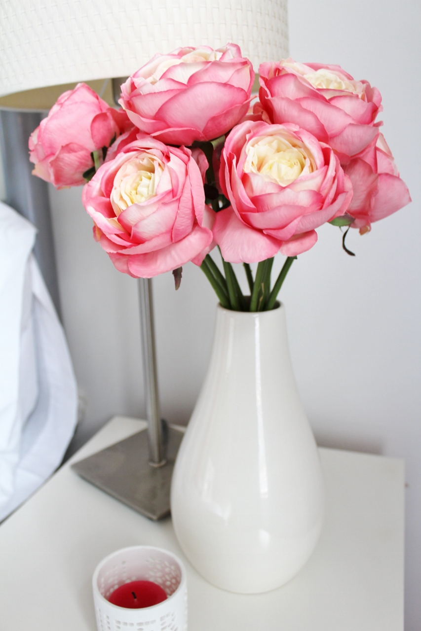 Little things I've loved, pink peonies in vase
