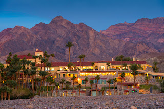 The Inn at Furnace Creek at dusk, Death Valley, California