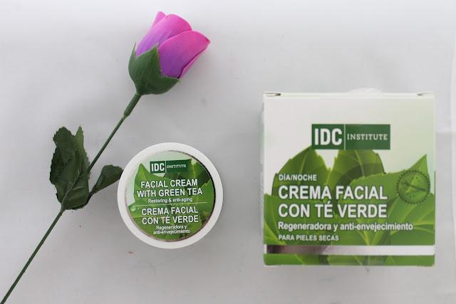 crema facial de te verde