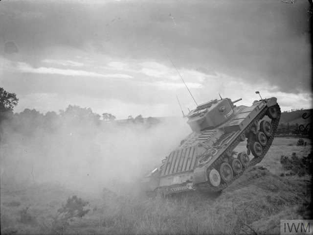 Valentine Mark III tank on maneuvers, 21 August 1941 worldwartwo.filminspector.com