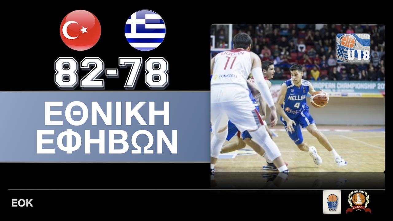 EOK | Ευρωπαϊκό Εφήβων : Τουρκία-Ελλάδα 82-78