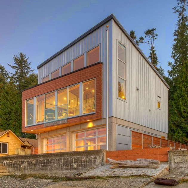 Waterfront Home Design Ideas: WATERFRONT HOUSE DESIGN WAS BUILT TO RESIST STRONG TSUNAMI