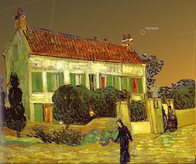 La Casa bianca di notte e il cielo al tramonto del 16 giugno 1890