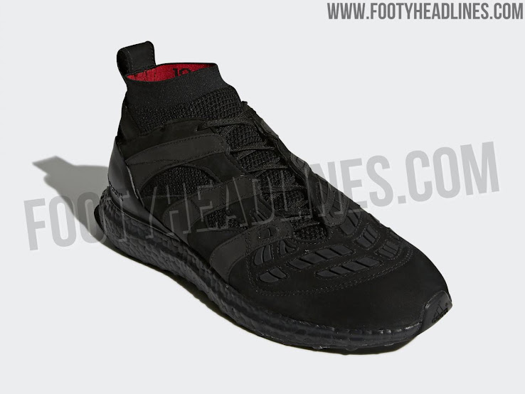 save off 02709 b3f56 Expected to be extremely rare and guaranteed to be a limited-edition  release, the Triple Black Adidas Predator Accelerator Beckham Ultra Boost  shoe has a ...