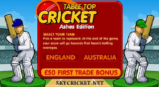 Play Tabletop cricket game - the Ashes edition