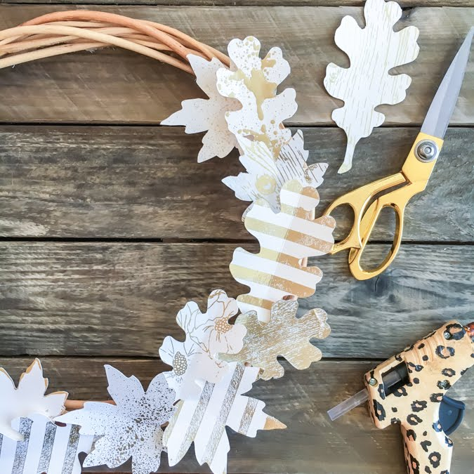 How to Foil a Fall Leaf Wreath Tutorial by Jamie Pate for Heidi Swapp  |  @jamiepate for @heidiswapp