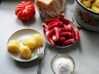 Обед из свежей картошки и осенней редиски, 5 сентября