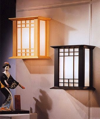 Japanese style bedroom wall lighting fixtures