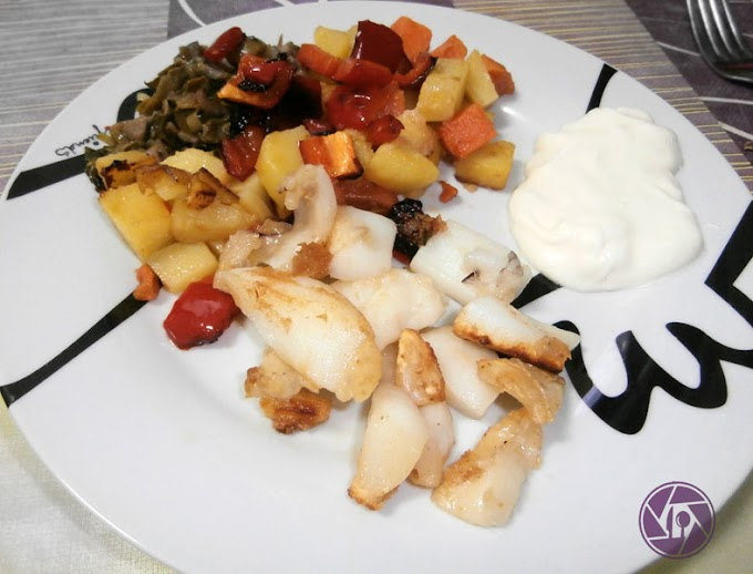 Sepia con patatas verduras y boniato
