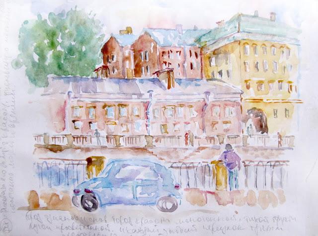 saint-petersburg-Watercolor-Sketch