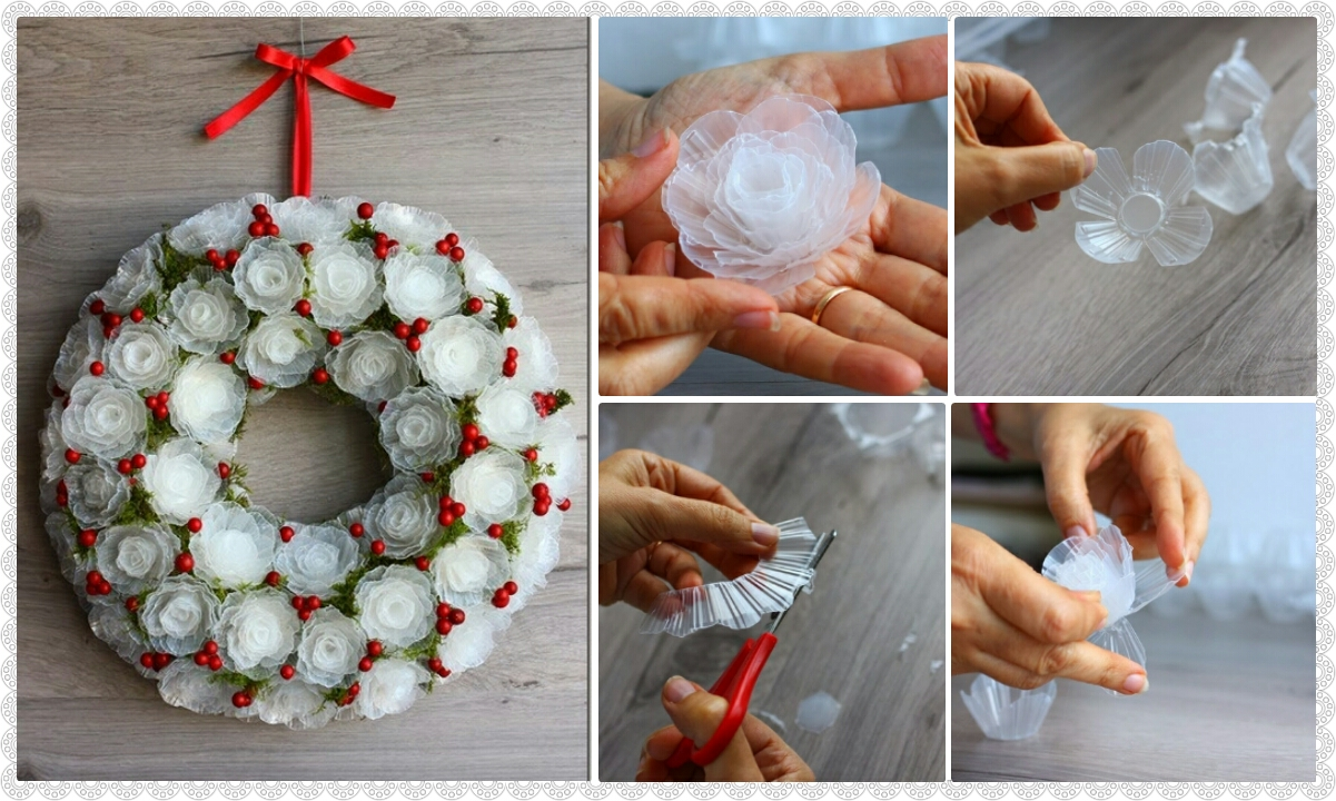 Gentle frosty wreath of plastic egg trays crazzy craft for Egg tray craft