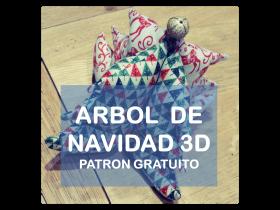 Tutorial cose un arbol de navidad 3D en tela La vie en DIY