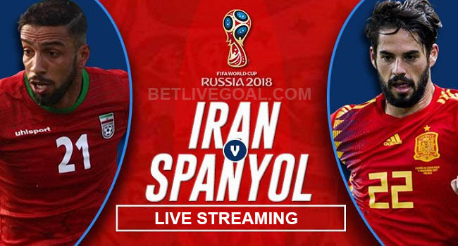 live streaming iran vs spanyol 21 juni 2018