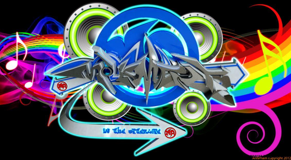 Music Graffiti Wallpapers: 3D Graffiti Music Full Color Wallpaper