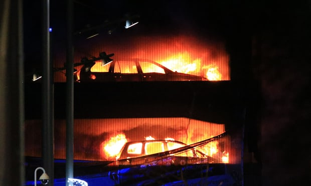 fire rages in Liverpool multistorey car park