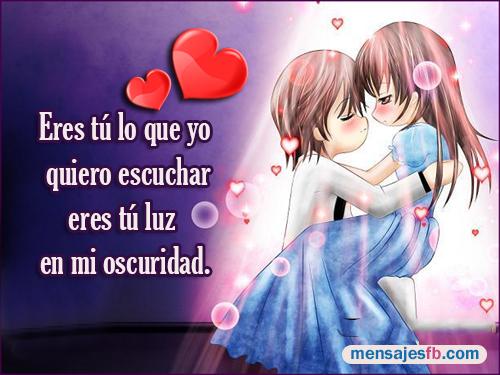 Imagenes Romanticas De Anime Con Mensajes De Amor Mensajes Para