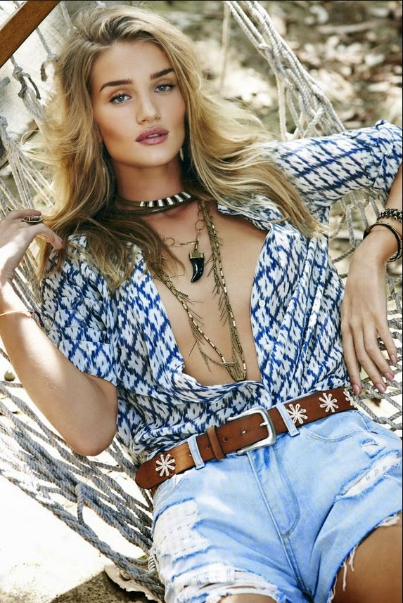 Rosie Huntington-Whiteley is chic for Paige Denim's Spring/Summer 2015 Campaign
