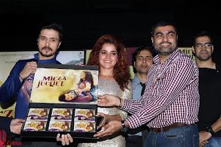 Pia Bajpai and Darshan Kummar Launching the Music of movie Mirza Juuliet 008.JPG
