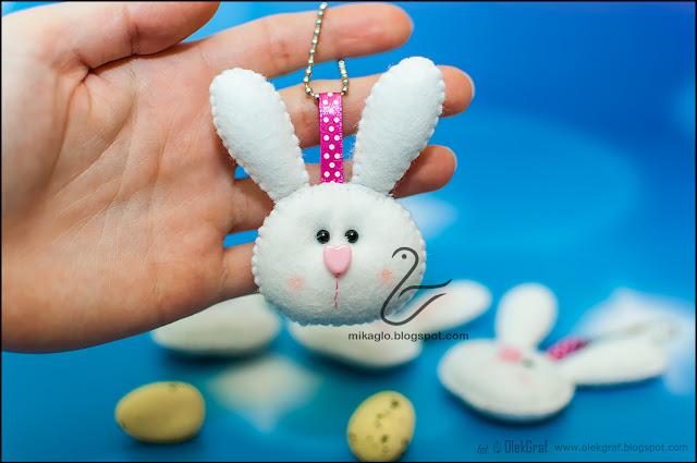 555. Króliczki z filcu / Felt keychain bunnies