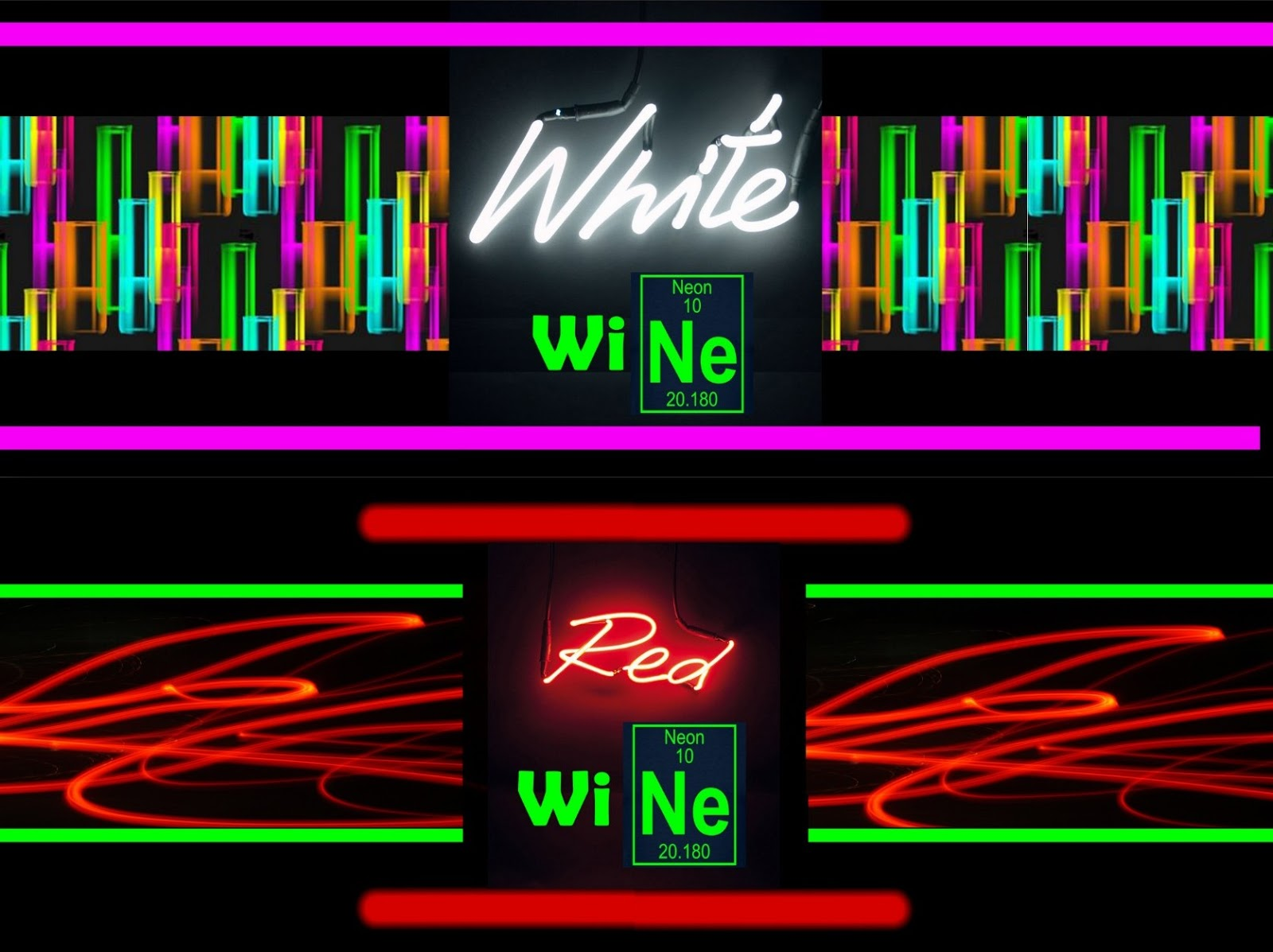 Invite and delight neon party i designed wine labels to go with my theme i used the ne element sign as well as light up sign images i found then put it all together with photoshop gamestrikefo Images