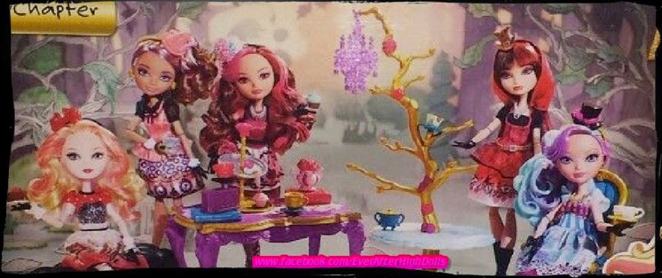 ever after high hat-tastic party madeline hatter apple white briar beauty cedar wood and cerise hood